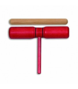 Photo of the Two Tone Block Goldon model 33124 Red Wood with Mallet
