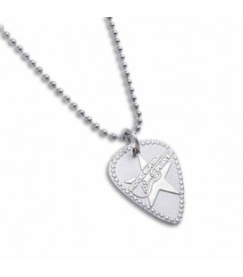 Fender Chain Necklace Rock Guitar Player