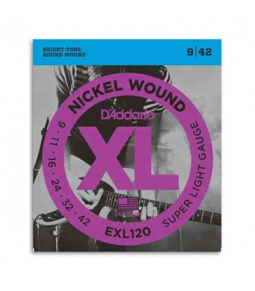 Photo of package for strings D'Addario EXL120