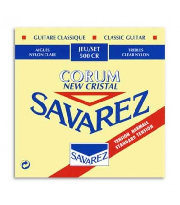 Savarez Classical Guitar String Set 500 CR Corum New Cristal Md Tension
