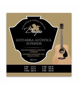 Drag達o Acoustic Guitar String Set 023 Superior Steel Silk Button