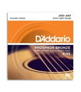 DAddario Acoustic Guitar String Set EJ15 010 Phosphor Bronze