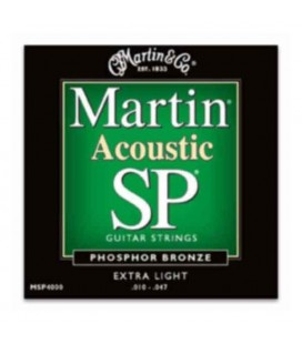 Martin Folk Guitar String Set MSP4000 Phosphor Bronze 010