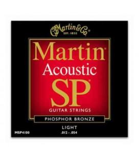 Martin Folk Guitar String Set MSP4100 Phosphor Bronze 012