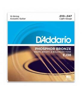 Daddario EJ38 12 Strings Acoustic Guitar String Set