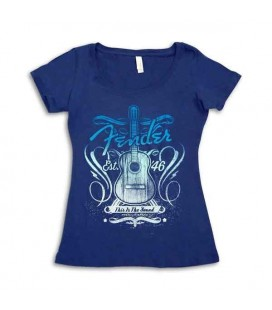 Fender T-shirt Navy This Is Sound Lady Size L