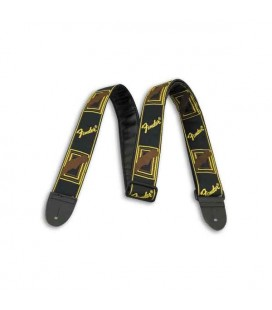 Fender Guitar Strap Black Yellow Brown