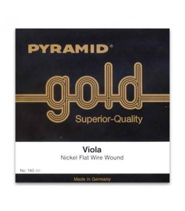 Pyramid Viola Strings Set Gold 140100