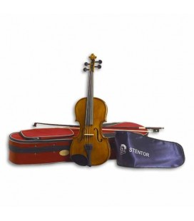 Photo of violin Stentor Student II with bow and case