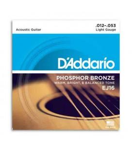 DAddario Acoustic Guitar String Set EJ16 012 Phosphor Bronze