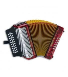 Photo of concertina Hohner Corona III red