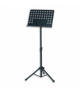 FX Orchestral Perforated Music Stand Metal Black F90072