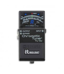 Boss Chromatic Tuner TU 3W Pedal with Connection to Many Pedals Waza Floor Tuner