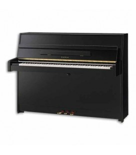 Kawai Upright Piano K 15 110cm Polished Black 3 Pedals