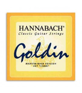 Hannabach Classical Guitar String Set Nylon Medium High Tension Goldin E725MHT