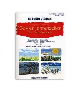 Music Sales Book BOE4032 The Four Seasons Antonio Vivaldi for Recorder or Piano