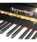 Keyboard and logo of piano Kayserburg KAM2