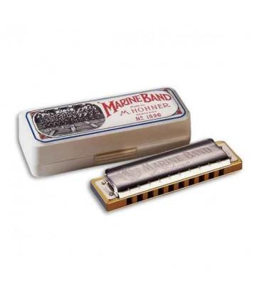 Photo of harmonica Hohner Marine Band in C with box