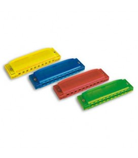 Harmonicas Hohner Happy Colors of several colors