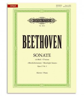 Edition Peters Book EP4014 Beethoven Sonata in C Sharp Minor Moonlight OP27/2