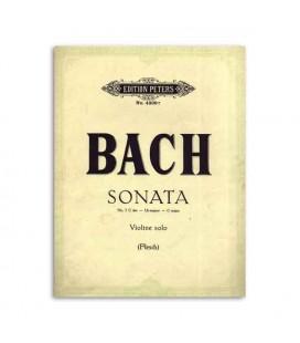 Bach Sonata n尊 3 C Major for Violin Edition Peters