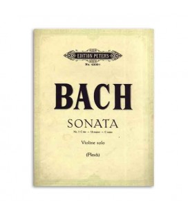 Edition Peters Book Peters Bach Sonata nº 3 C Major for Violin EP4309E