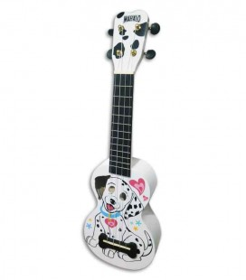 Mahalo Soprano Ukulele MA1DA Dalmatian White with Bag