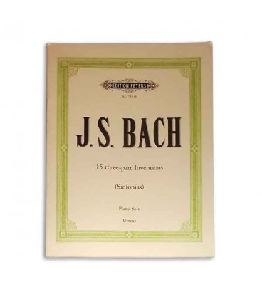 Bach 15 3 Part Inventions Edition Peters