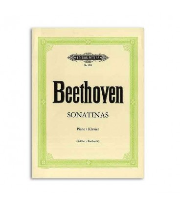 Edition Peters Book Beethoven 6 Sonatinas EP1231
