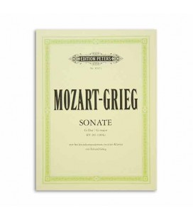 Edition Peters Book Mozart Grieg Sonata in G K283 Arrangemnts 2 Pianos EP8607C