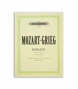 Mozart Grieg Sonata in G K283 Arrangemnts 2 Pianos Edition Peters