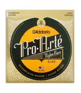 Classical Guitar String Set Daddario EJ43 Nylon Light Tension