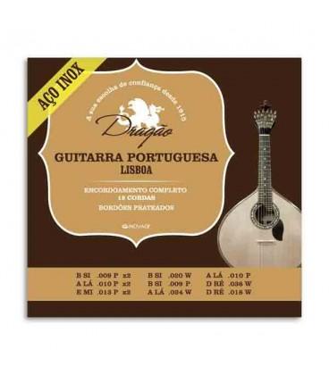 Photo of package of strings Drag達o 073 for portuguese guitar Lisbon model
