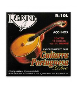 Package of string set Rouxinol R10L portuguese guitar