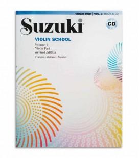 Book Suzuki Violin School Vol 2 with CD FR IT ES MB296