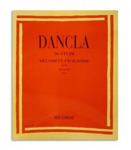 Livro Dancla 36 Estudos Mel坦dicos e F叩ceis para Violino Opus 84  ER1543