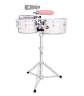 LP Timbales LP255S 12 13 Tito Puente Chrome with Stand