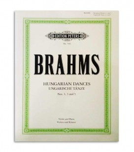 Brahms 3 Hungarian Dances Edition Peters