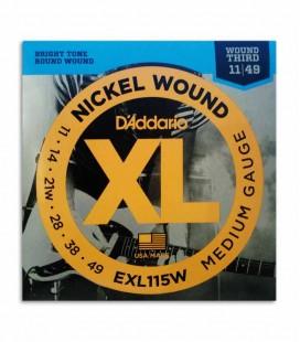 String Set DAddario EXL115W 011 049 for Electric Guitar