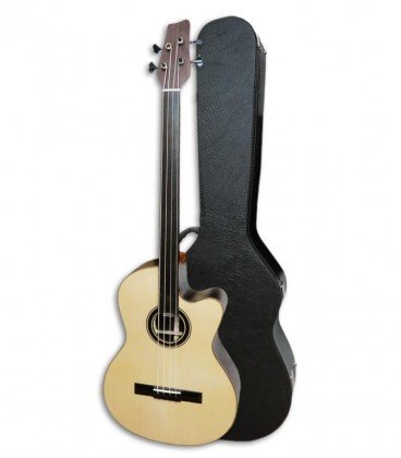 Acoustic Bass Guitar Deluxe Artim炭sica 33133 instrument and case