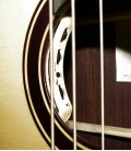 Acoustic Bass Guitar Deluxe Artim炭sica 33133 bass soundhole with preamp image