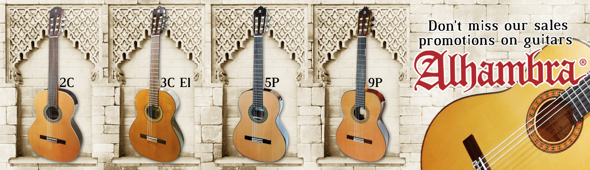 Don't miss our sales promotions on guitars Alhambra!