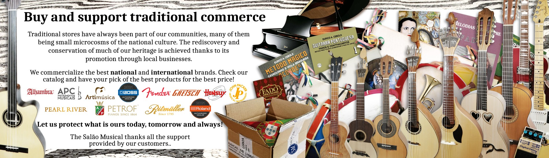Support traditional commerce! - Let us protetc what's ours now, tomorrow and always!