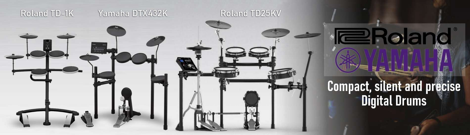 Compact, silent and precise Digital Drums
