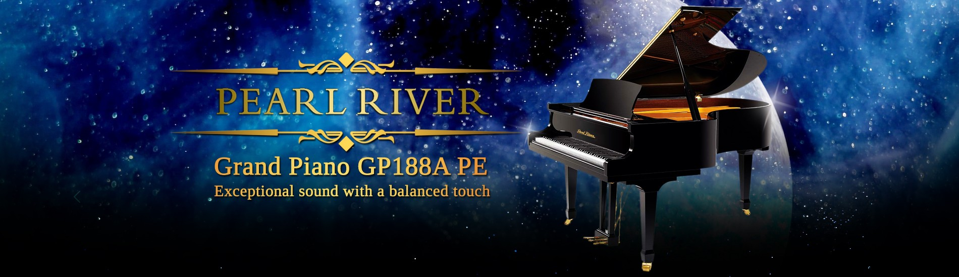 Grand Piano Pearl River GP188A PE - Exceptional sound with a balanced touch