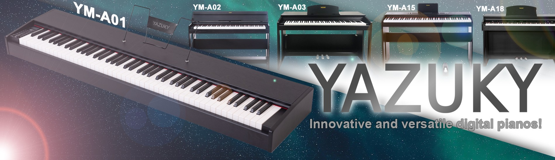 Yazuky - Innovative and versatile digital pianos!
